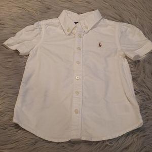 Ralph Lauren Toddler Girl Button Down Shirt